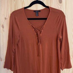 Forever 21 XL burnt orange knee length dress